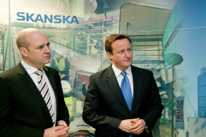 UK and Swedish PMs - Royal London Hospital